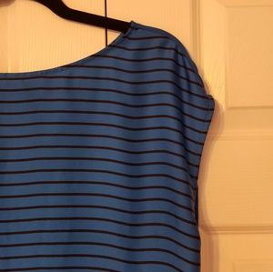 Halogen Blue Top with Black Stripe Size Large